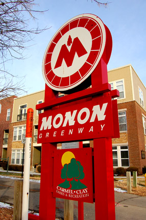 Lose yourself walking or biking on the Monon Trail through Carmel