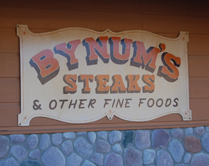 In Martinsville IN Indiana there's only one place to eat - Bynum's Steakhouse