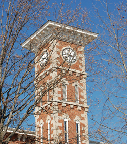 The Courthouse tower in Martinsville IN