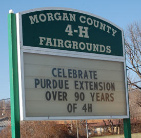 Morgan County Fairgrounds entrance in Martinsville IN Indiana